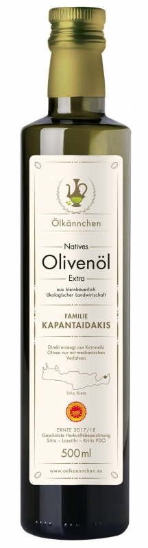 Natives Olivenöl extra, Kapantaidakis PDO Sitia 500 ml
